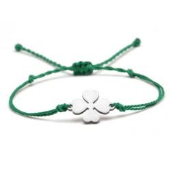 klavertje vier armband groen